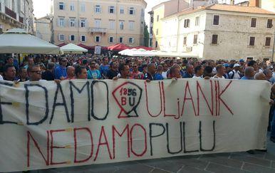 Štrajk radnika Uljanika (Foto: Dnevnik.hr)