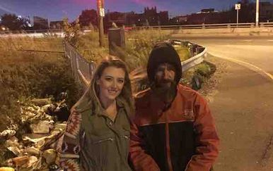 Kate McClure i Johnny Bobbitt Jr. (Foto: GoFundMe)