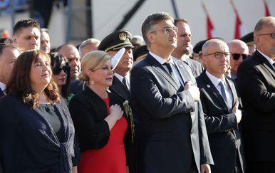 Svečanost obilježavanja Dana pobjede i domovinske zahvalnosti u Kninu (Foto: Dusko Jaramaz/PIXSELL)