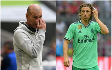 Zinedine Zidane i Luka Modrić (Foto: AFP/GOL.hr)