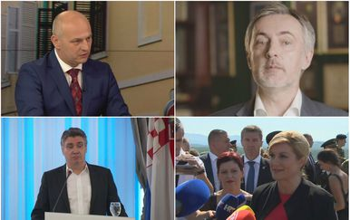 Mislav Kolakušić, Miroslav Škoro, Zoran Milanović, i Kolinda Grabar-Kitarović (Foto: Dnevnik.hr)