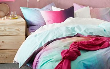 Šarena IKEA posteljina donosi dašak optimizma u spavaću sobu