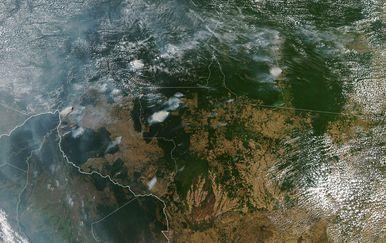 Snimke iz svemira požara u Amazoni (Foto: NASA)