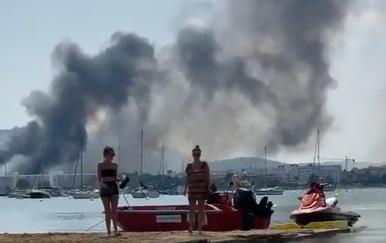 Požar na Ibizi (Foto: Screenshot)