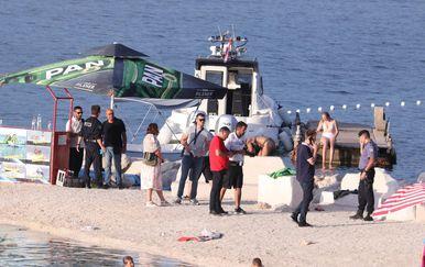 Policijski očevid nedaleko od mjesta sudara jet skija i jedrilice kod Marine - 6