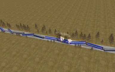 Animacija željezničke nesreće