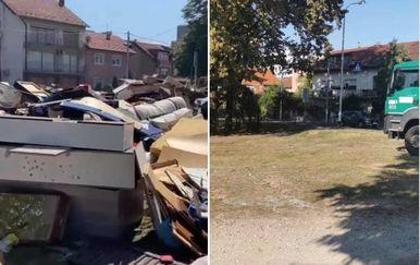 Otpad u Prečkom prije i poslije