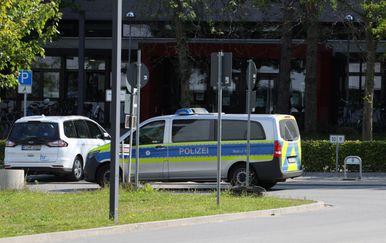 Njemačka policija u Darmstadtu