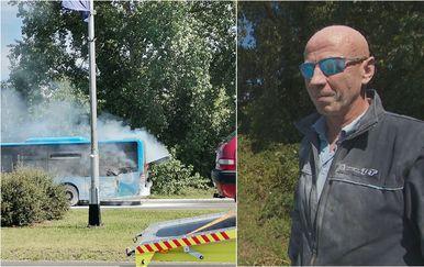 Zapalio se autobus u Zagrebu