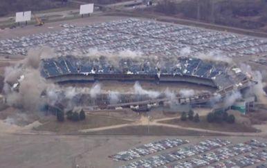 Rušenje stadiona u Detroitu (Foto: Screenshot APTN)