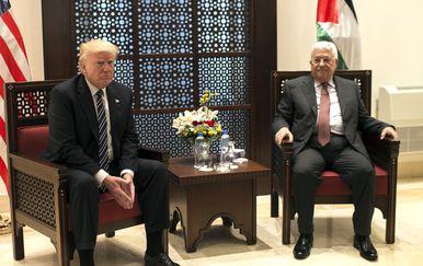 Donald Trump i Mahmoud Abbas (Foto: AFP)