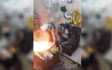 Rođendanska je zabava u sekundi prerasla u katastrofu (FOTO: Liveleak/Screenshot)