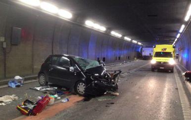 Nesreća u tunelu Gotthard (Screenshot APTN)