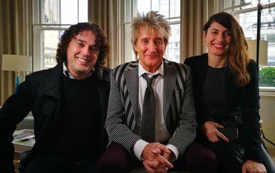 Alen Ključe, Rod Stewart i Jelena Radan (Foto: PR)