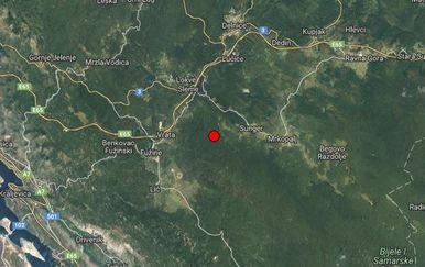 Potres kod Mrkoplja (Foto: EMSC)
