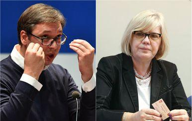Aleksandar Vučić i Mira Nikolić (Foto: Pixell)