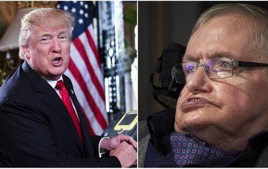 Donald Trump i Stephen Hawking (Foto: AFP)