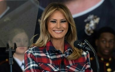 Melania Trump u vojnoj bazi u Washingtonu - 5