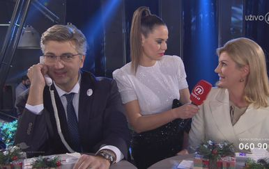 Premijer Plenković, Mia Kovačić, i predsjednica Grabar-Kitarović (Foto: Dnevnik,hr)