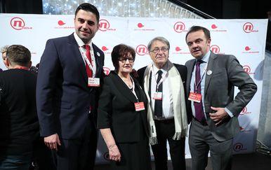 Davor Bernardić, Marija Rukavina, Miroslav Ćiro Blažević (Foto: Sanjin Strukic/PIXSELL)