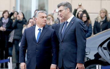 Viktor Orban i Andrej Plenković (Foto: Patrik Macek/PIXSELL)
