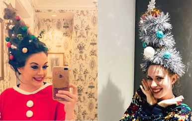 Božićne frizure (Foto: Instagram)