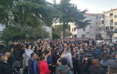 Prosvjed u Metkoviću (Foto: Dnevnik.hr)
