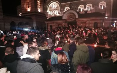 Prosvjed u Banjoj Luci zbog uhićenja Davidovog oca i majke (Foto: Avaz.ba) 5