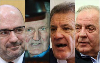 Milijan Brkić, Ivica Todorić, Zdravko Mamić, Ivo Sanader (Foto: Pixsell, Sanjin Strukic, Goran Stanzl, Ivo Cagalj, Patrik Macek)