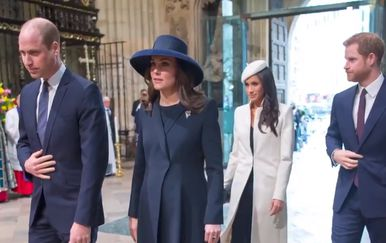 Kate Middleton i princ William, Meghan Markle i princ Harry (Foto: Screenshot)
