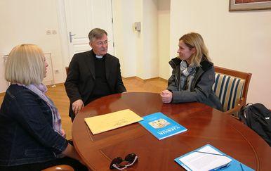 Nadbiskup Barišić primio Ninu Kuluz (Foto: Splitsko-makarska nadbiskupija)