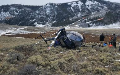 Pilot i njegov suputnik su tek lakše ozlijeđeni (FOTO: Wasatch County Search and Rescue)