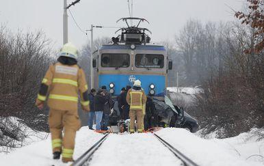 Teretni vlak usmrtio mladi par u automobilu (Foto: Tomislav Miletic/PIXSELL)