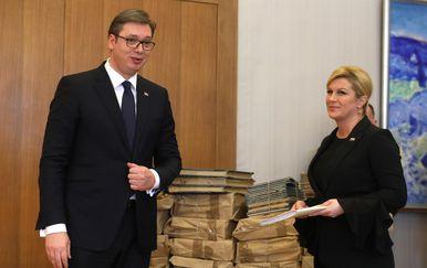 Aleksandar Vučić i Kolinda Grabar-Kitarović (Foto: Boris Scitar/Vecernji list/PIXSELL)
