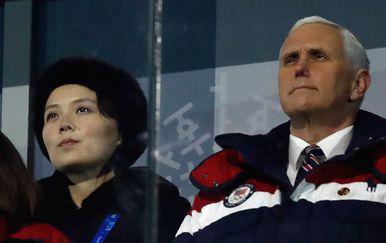 Mike Pence i Kim Yo Jong (Fto: AFP)