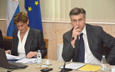 Martina Dalić i Andrej Plenković (Foto: Pixell)