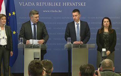 Andrej Plenković predstavlja novog povjerenika za Agrokor (Foto: Dnevnik.hr)