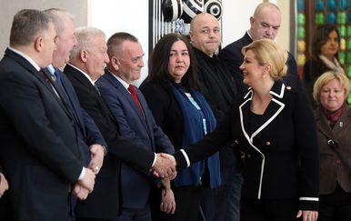 Sastanak braniteljskih udruga s Predsjednicom na Pantovčaku (Foto: Robert Anic/PIXSELL)