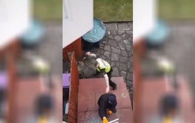 Policajac prema razbojniku nije imao milosti (FOTO: Facebook/Screenshot)