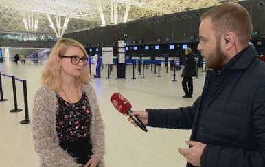 Marija Mileta, iz Inicijative Dobrodošli!, i Ivan Čorkalo (Foto: Dnevnik.hr)