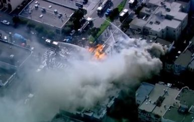 Buktinja u San Franciscu (Screenshot: Reuters)