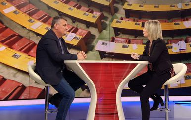 Zastupnik Mosta Miro Bulj gostuje u Dnevniku Nove TV (Foto: Dnevnik.hr)