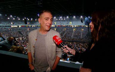 Valentina Baus razgovara sa Željkom Joksimovićem uoči koncerta (Foto: Dnevnik.hr)