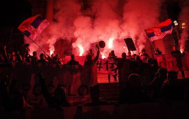 Prosvjedi u Beogradu (Foto: AFP)