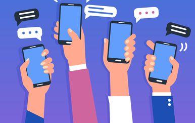 Telefoni, ilustracija