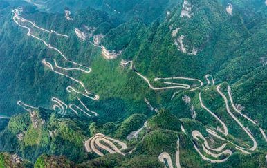 Tianmen Mountain Road, Kina - 2