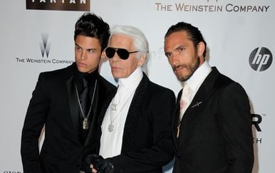 Karl Lagerfeld i Brad Kroenig (Foto: Getty Images)