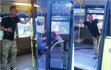 Napad na autobus (Screenshot: Facebook)