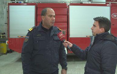 Darko Dukić, vatrogasni zapovjednik Šibensko-kninske županije, i Šime Vičević (Foto: Dnevnik.hr)