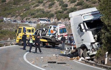Prometna nesreća u mjestu Banići blizu Dubrovnika (Foto: Grgo Jelavić/PIXSELL) - 1